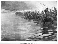 Greek cavalry being attacked on the Asopos River.