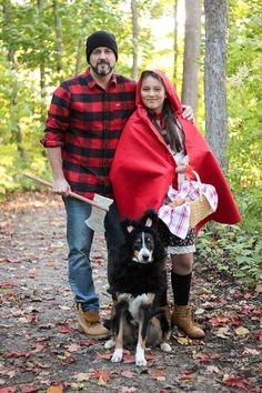 Little Red Riding Hood, the Huntsman and wolf