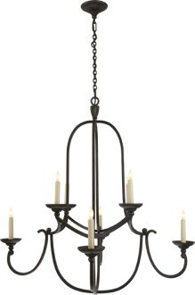 MEDIUM FLEMISH ROUND CHANDELIER Height 36 1 2 Width 35 House LightingKitchen LightingDining Room
