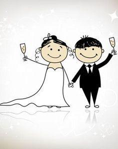 couple de mariés dessin: Livre à colorier: marié de bande