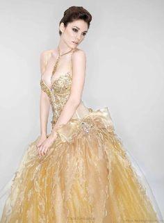 Vestidos de boda de color oro