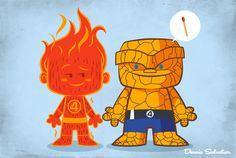 A amizade ilustrada por Dennis Salvatier - Para ilustrar a amizade de personagens da TV e dos quadrinhos, Dennis Salvatier criou a divertida série de ilustrações Lil BFFs. Confira!