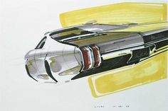 1968 GM Oldsmobile Concept Rendering Sketch 8 x 10 Giclee Print Colani Design, American Classic Cars, Volvo Cars, Car Illustration, Retro Futuristic, Car Advertising, Car Sketch, Car Drawings, Car Painting