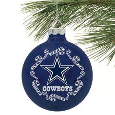 Dallas Cowboys Candycane Traditional Ornament - Navy Blue - Fanatics.com