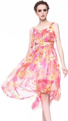 Floral Ruffle High Low Dress <3...exquisite summer dress....
