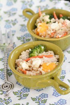 Mango Chicken and Blue Cheese Quinoa Salad