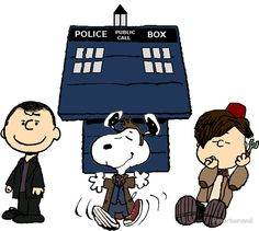 Charlie Brown, Snoopy and Linus as The Dr. Who Crew.