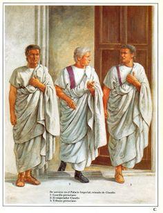 The clavi (or clavus) were purple bands that stretched across the hem of senators' attire. Ancient Rome, Ancient Greece, Ancient History, Ancient Roman Clothing, Roman Clothes, Rome Antique, Empire Romain, Roman Republic, Roman History