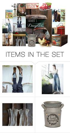 """Farmer's Daughter"" by sheila-ball ❤ liked on Polyvore featuring art"