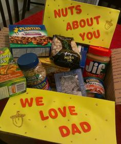 Nuts about you deployment box, Jeffrey loves Blue Diamond! Missionary Care Packages, Deployment Care Packages, Military Deployment, Deployment Party, Military Wife, Craft Gifts, Diy Gifts, Care Box, Creative Gifts