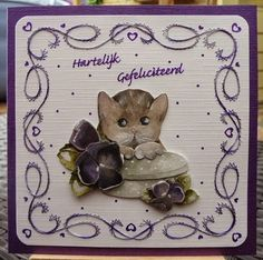 Hobbyjournaal: Borduur Challenge Paper Embroidery, Card Patterns, Cards, Design, Decor, Decoration, Maps, Decorating