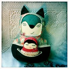 Grandmother Wolf and Little Red Softie by Nettle & Brier, via Flickr