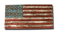 Weathered Wood One of a kind 3D American flag, Wooden, vintage, art, distressed, patriotic, 4th of july, fourth, United States via Etsy