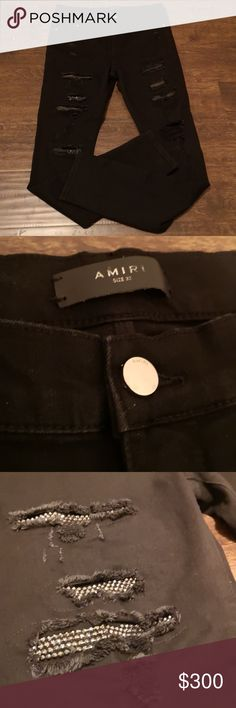 4b7e4981c00 Shop Men s AMIRI Black size 32 Skinny at a discounted price at Poshmark.  Description  Pre owned amiri skinny jeans size Sold by Fast delivery