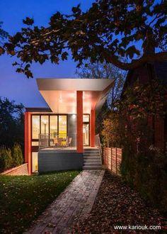 Casa contemporánea angosta