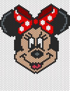 Minnie Mouse bead pattern