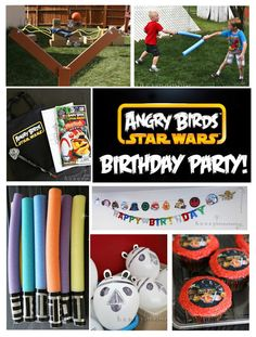 My son just turned 7 years old and he really wanted to have an Angry Birds Star Wars birthday party. So it was up to me to figure out how to. Bird Birthday Parties, Birthday Fun, Birthday Ideas, Star Wars Birthday, Star Wars Party, Fete Audrey, Cumpleaños Angry Birds, Bird Party, Partys