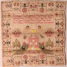 Jane Dybell's Sampler age 9 via  textilecollection.wisc.edu