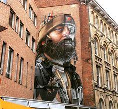 Leicester, UK: new piece by Australian artist Smug One.