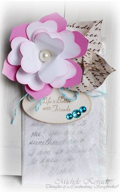 4/16/2012; Michele Kovack at 'Thoughts of a Cardmaking Scrapbooker' blog decorating glassine bags; GREAT idea!!