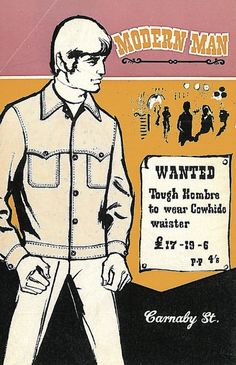 Modern Man, 1 9 6 7, Carnaby St, Menswear Mail Order Catalogue.