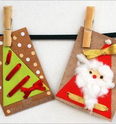 Paper, cotton and punch-hole christmas cards // Mikulás és karácsonyfa - képeslapok egyszerűen // Mindy - craft tutorial collection