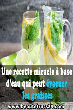 Une recette miracle à base d'eau qui peut évacuer les graisses #remèdes_naturels#santé#maison_propre #recette_santé Miracle, Pickles, Cantaloupe, Cucumber, Fruit, Food, Clean House, Drink, Fat