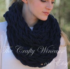 Choose Your Color! - The Leah Infinity - A Chunky, Wide-Knit, Double-Wrap Infinity Scarf - pinned by pin4etsy.com