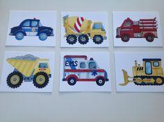 Cars trucks boys art transportation nursery by theprincessandpea