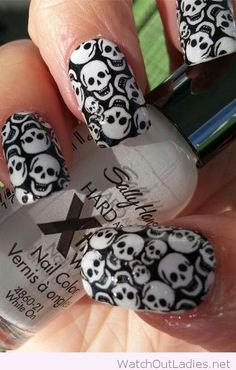 Skull nail decals for Halloween