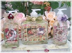 Victorian Lotion Bottles