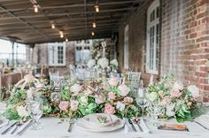 elegant tablescapes - photo by Becky Williamson Photography http://ruffledblog.com/nautical-romance-wedding-ideas-in-charleston