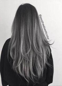 Silver hair silver ombre hair in 2019 цвет Ash Gray Hair Color, Ombre Hair Color, Hair Color Balayage, Cool Hair Color, Hair Colors, Balayage Highlights, Ash Gray Balayage, Silver Color, Fall Highlights