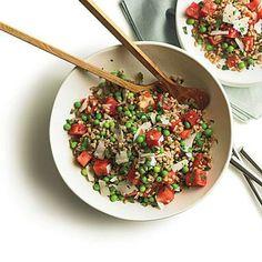 Summer Pea, Watermelon, and Farro Salad | CookingLight.com