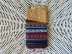 Iphone 5S Case Tribal Print Iphone Case Wood iPhone by Phoniez