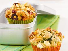 Zucchini-Feta-Muffins, Mais, Walnuss