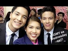 Backstage with God Gave Me you cast! MArch Eat Bulaga Kalye Serye Maine Mendoza Jake Ejercito Alden Richards MAine Mendoza Credits to the owners photo! Backstage, Give It To Me, It Cast, March, God, Celebrities, Dios, Celebs, Allah