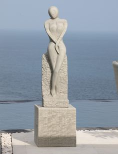 Placidity Modern Art Stone Statue Large Garden Sculpture. Buy Now At Http://