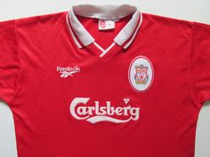 19672af98 Liverpool 1996 1997 1998 home football shirt by Reebok vintage 90s soccer  England retro