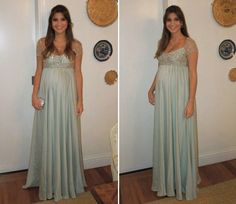New Empire Chiffon Beaded Formal pregnancy Evening dresses Maternity Prom Gown Maternity Bridesmaid Dresses, Maternity Wear, Maternity Fashion, Wedding Dresses, Party Dresses, Beaded Chiffon, Sexy Girl, Formal Gowns, Ideias Fashion