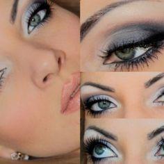 Maquillaje de ojo en tonos gris