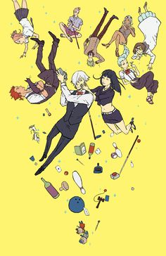 Print that I'll have at Sakuracon ^O^/ Hope to see y'all there! - Death Parade Cast