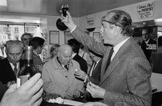 Jacques Chirac à Aurillac, en campagne pour les élections législatives.