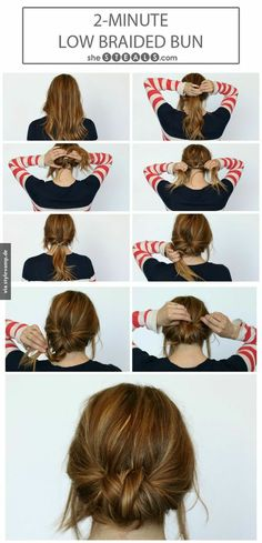 Chic Chignon hairstyle is perfect for you, if you want to special hairdo for a party or occasion. Chignon hairstyle gives a unique look to your hair. Summer Hair Buns, Easy Hair Buns, Braids Easy, Dutch Braids, Simple Braids, Good Hair Day, Tips Belleza, Hair Today, Pretty Hairstyles