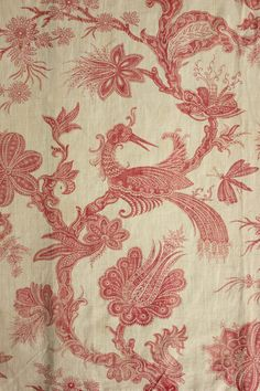 The fabric was printed in the late 18th century ( c1790 ) by Fave, Petitpierre et Cei. of Nantes.