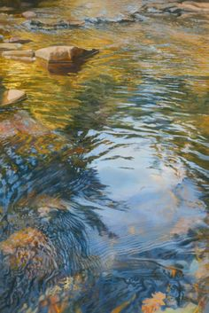 º de no leídos) - - Yahoo Mail Seascape Paintings, Landscape Paintings, Landscapes, Watercolor Landscape, Abstract Landscape, Oak Creek, Water Art, Water Reflections, Painting Inspiration