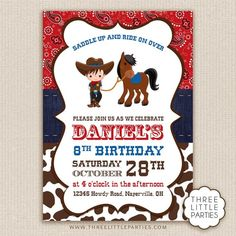 Cowboy First Birthday, Horse Birthday Parties, Horse Party, Cowgirl Party, Cowboy Invitations, Birthday Invitations, Baby Shower Cake Decorations, Cowboy Baby Shower, Toy Store