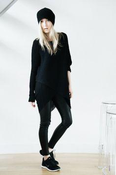 helmut lang asymmetrical sweater black helmut lang threadbare tank black aritzia wilfred rebelle leggings