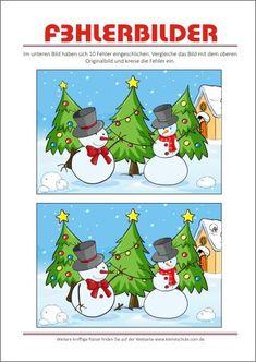 rätselbilder für kinder - finde zwei gleiche bilder   weihnachten spiele, rätsel für kinder und