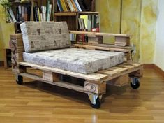Recycling the pallet into furniture is an art and you can learn this art from many furniture ideas available. Now create your own rustic indoor theme with pallet walls and matching pallet couch. This couch can be made comfortable and cozy with lots of mattresses and cushions.